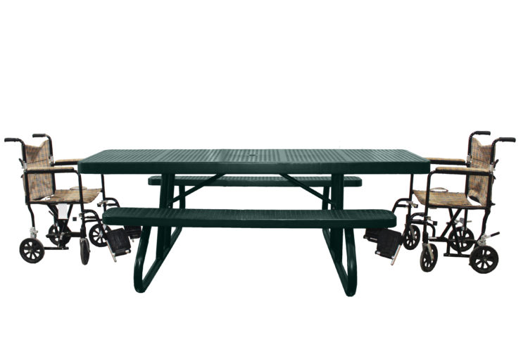 accessible picnic bench